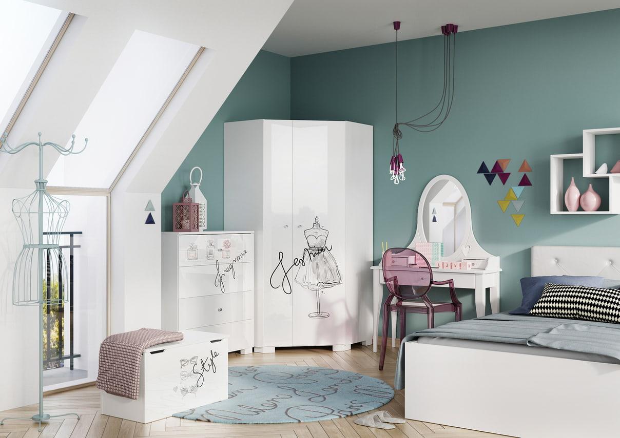 Pokój dla nastolatki w stylu klasycznym