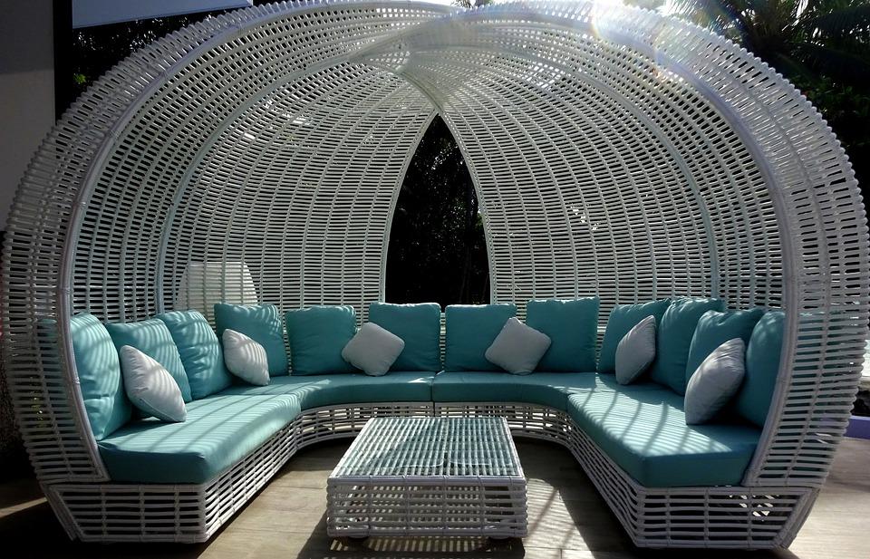 rattanowa sofa